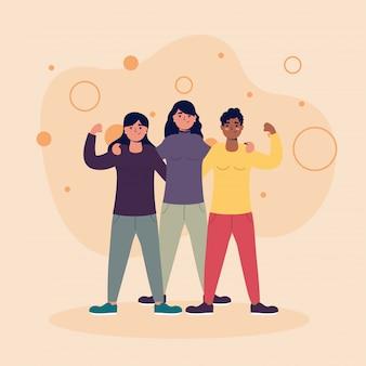 Avatars femmes amis vector design