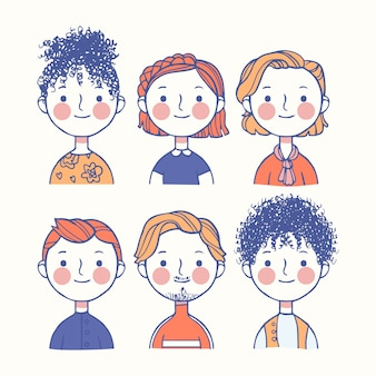 Avatars de gens colorés
