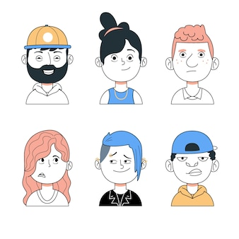 Avatars de gens colorés