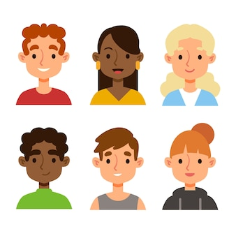 Avatars de personnes illustrés
