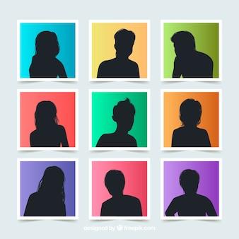 Avatars de silhouette moderne