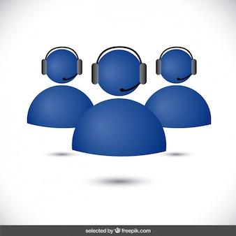 Avatars de soutien bleu
