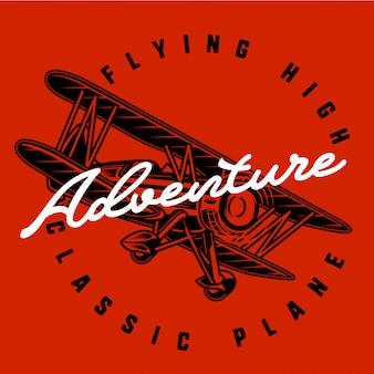 Aventure en avion de style vintage