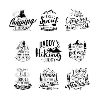 Aventure cite le lettrage de typographie pour la conception de tshirt
