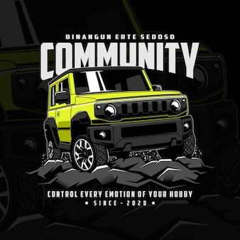 Aventure communautaire en jeep