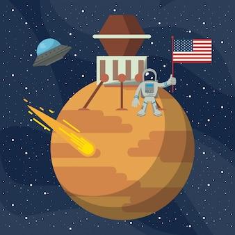 Aventure d'exploration spatiale