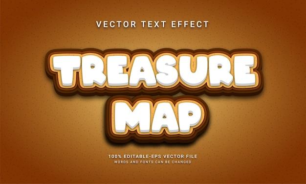 Aventure sauvage sur le thème de l'effet de texte modifiable de carte au trésor