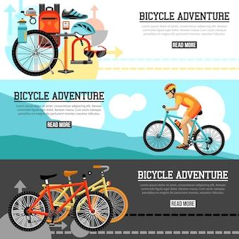 Aventure à vélo - bannières horizontales