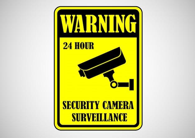 Avertissement de caméra de sécurité
