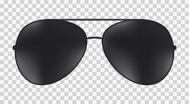 Aviator police isolé lunettes de soleil.