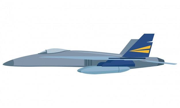 Avion blindé avec la fusée prête à attaquer l'ennemi