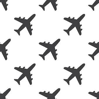 Avion, modèle sans couture de vecteur, modifiable peut être utilisé pour les arrière-plans de pages web, les remplissages de motifs