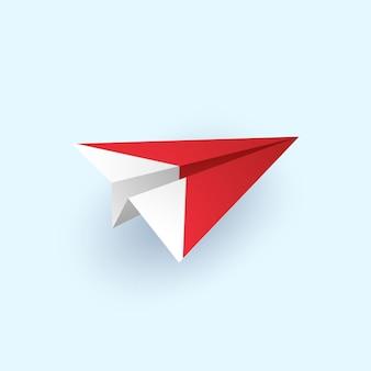 Avion en origami volant, style art papier