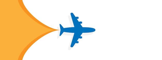 L'avion a ouvert l'illustration de l'espace vide