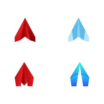 Avion en papier illustration de conception d'icône de vecteur modèle