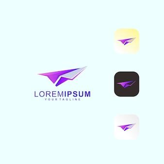 Avion en papier premium logo