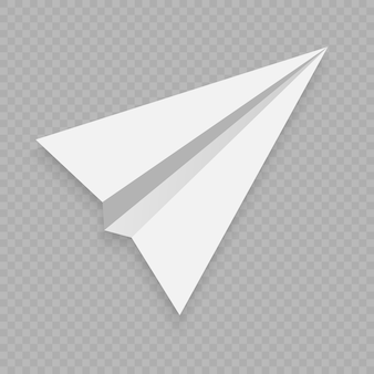 Avion en papier vecteur