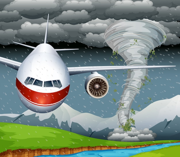 Un avion de typhon