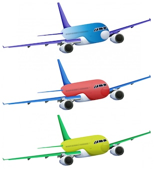 Avions colorés