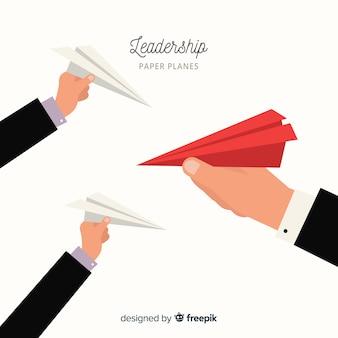 Avions de papier de leadership