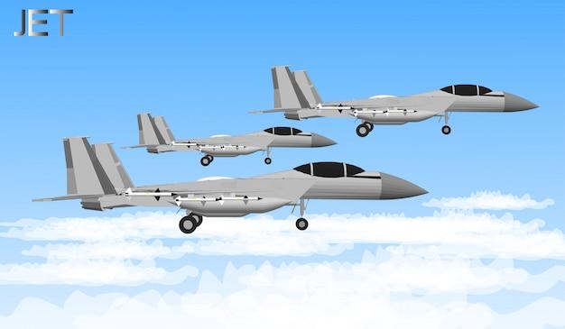 Avions à réaction et navires de guerre pour soldats