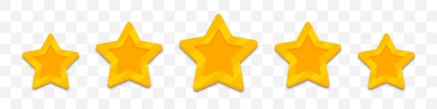 Avis client cinq étoiles dans un design plat