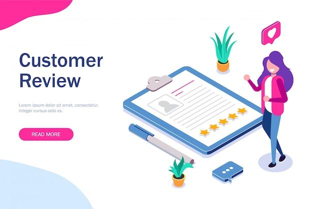 Avis client. le responsable rh évalue les cv. cinq étoiles et commentaires positifs