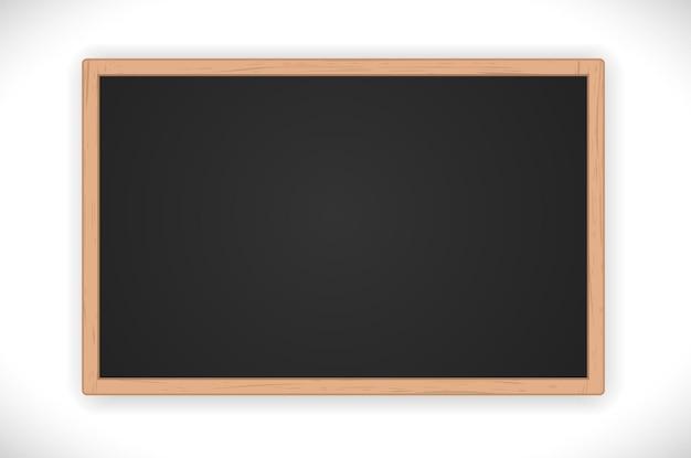 Avis tableau noir vierge avec cadre en bois