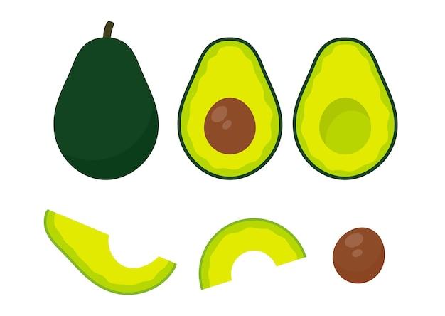 Avocat. fruit d'avocat coupé en morceaux il y a une graine ronde à l'intérieur. pour les soins de santé