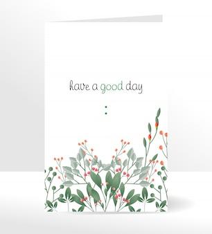 Avoir une bonne carte de voeux avec le style de belles fleurs.