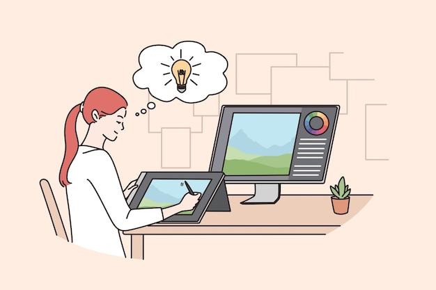 Avoir un concept d'idée de travail créatif