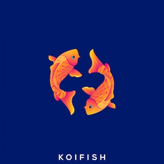Awesome gold fish premium logo