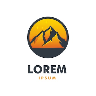 Awesome mountain logo premium