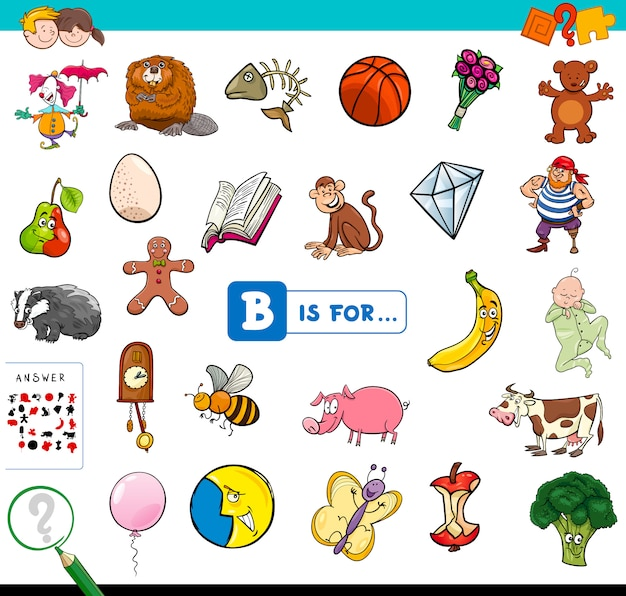 B est pour jeu éducatif pour les enfants