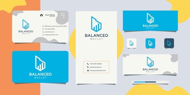 B logo design paiement de portefeuille et conception de carte de visite
