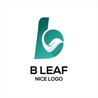 B avec logo feuille couleur bleue