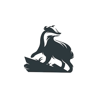 B & w badger logo