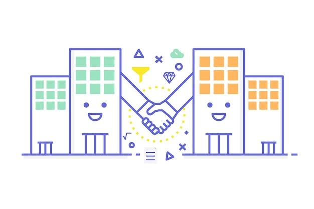 B2b - illustration de concept d'entreprise à entreprise