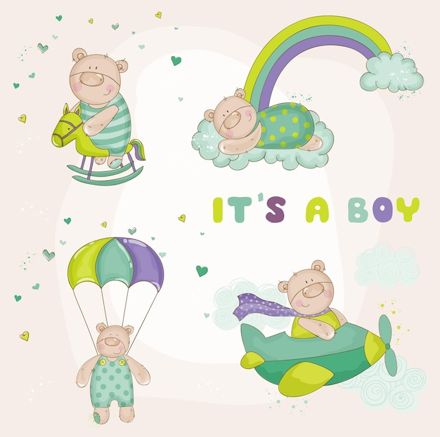 Baby bear set baby shower