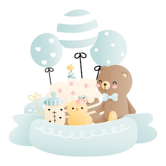 Baby shower, élément bébé garçon