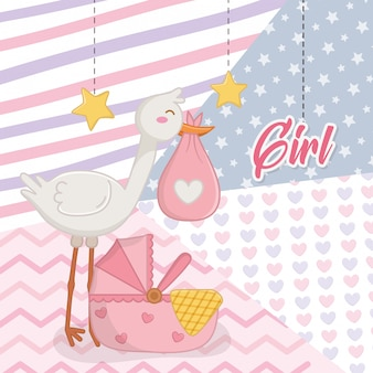 Baby shower d'une fille