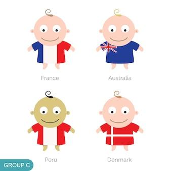 Baby world football, dessin animé drôle