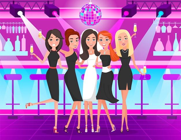 Bachelorette party, filles dansant dans une discothèque