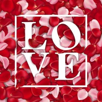 Backgound typographique de la saint-valentin