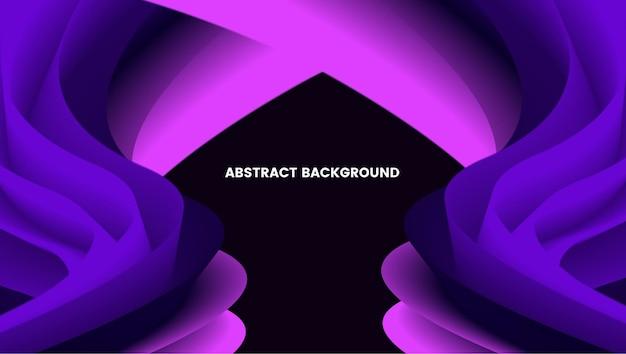 Backgroun abstrait avec des dégradés de couleurs violet et noir