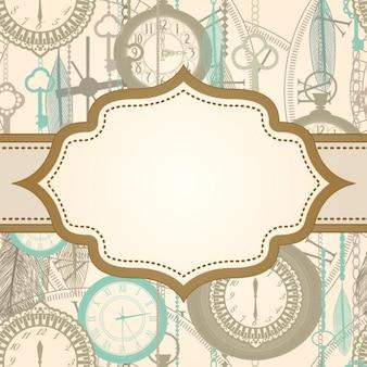 Background design avec une étiquette