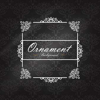 Background design ornemental