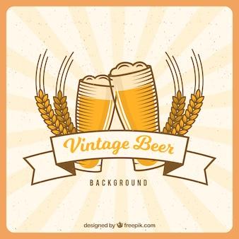 Backgrpund de bière vintage