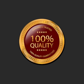 Badge 100% qualité garantie