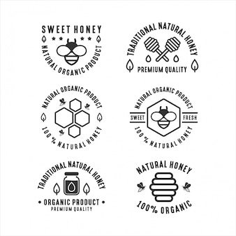 Badge abeille produit naturel